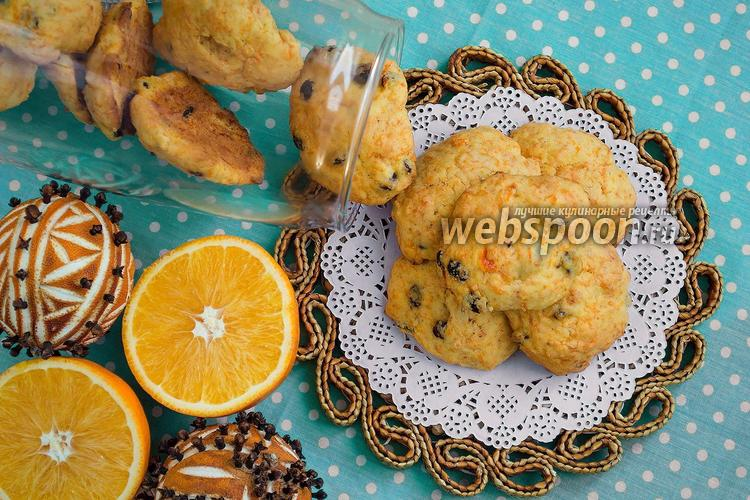 Фото Морковное печенье с изюмом