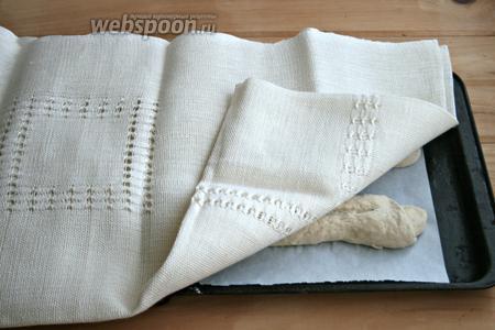 Накрыть льняным (простым) полотенцем. Оставить на 1 час.