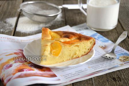Мягкий пирог с рикоттой и персиками