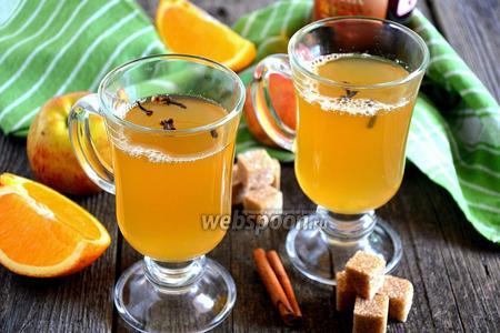Апельсиново-яблочный грог