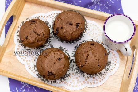 Шоколадные кексы с шоколадными каплями