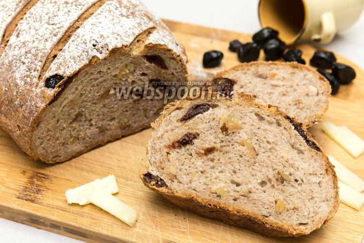 Рецепт Пшенично-ржаной хлеб с вяленой вишней и орехами