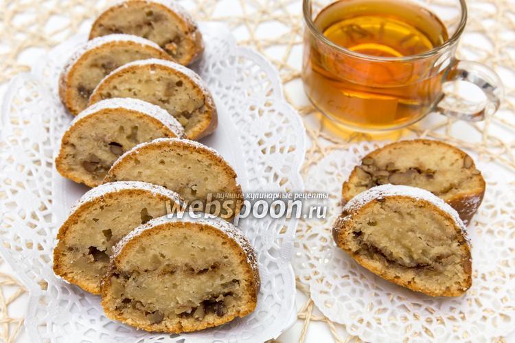 Рецепт Кекс на яблочном пюре с орехами