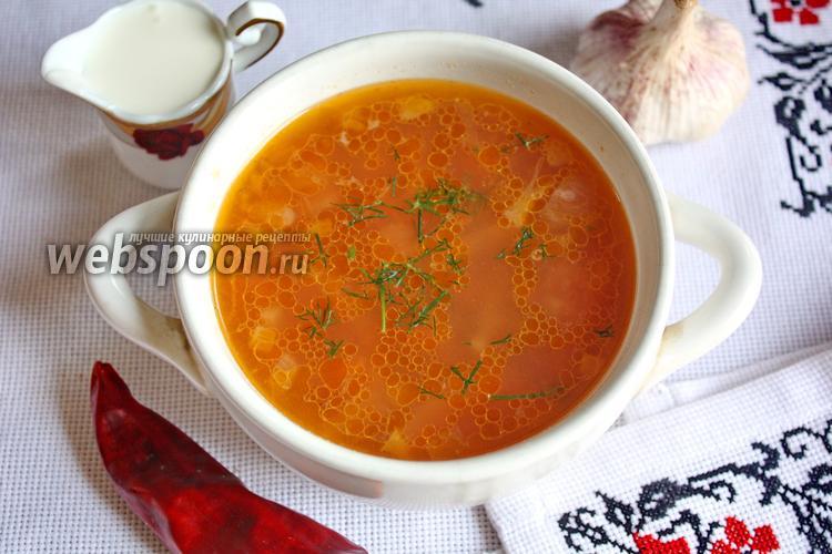 Рецепт Борщ с грибами на курином бульоне