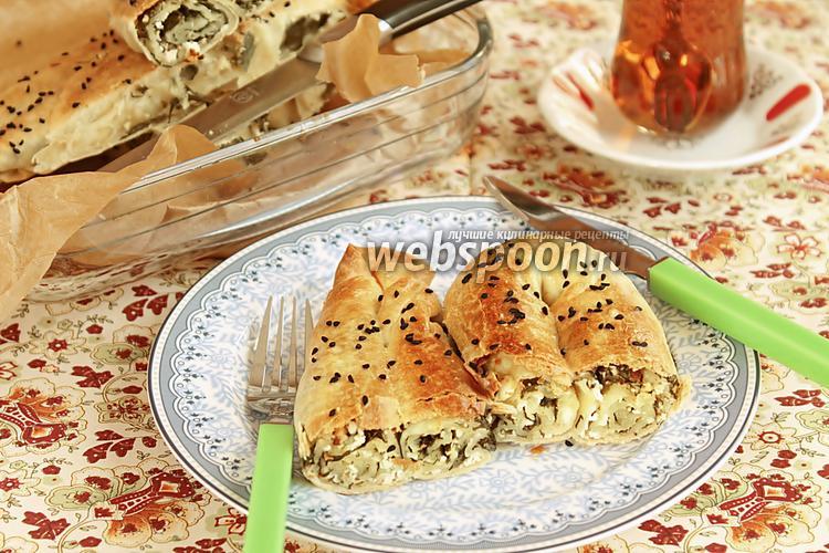 Рецепт Кол бёрек — турецкий пирог со шпинатом и солёным творогом