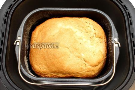 Через 2 часа 50 минут хлебопечка известит нас о готовности хлеба.