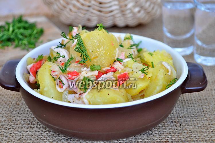Рецепт Картофель по-камчатски с крабовым мясом