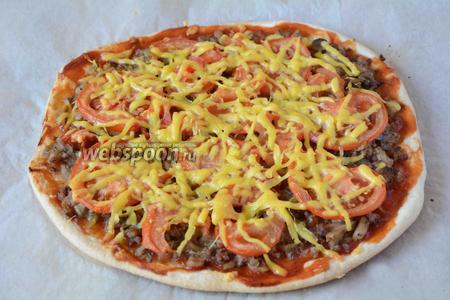 Пицца готова. Приятного аппетита!