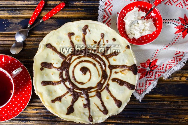 Рецепт Блинчики на сливках с какао