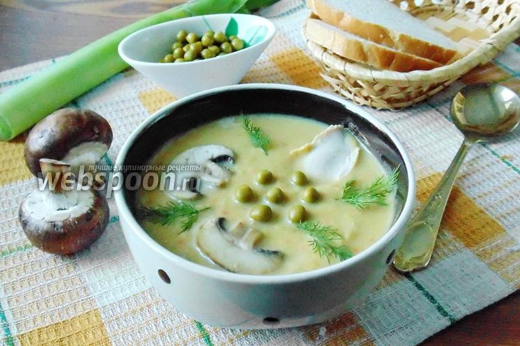 Рецепт Суп с консервированным зелёным горошком