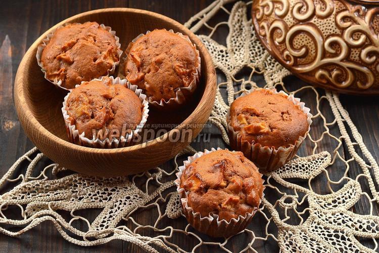 Рецепт Карамельные маффины с яблоками