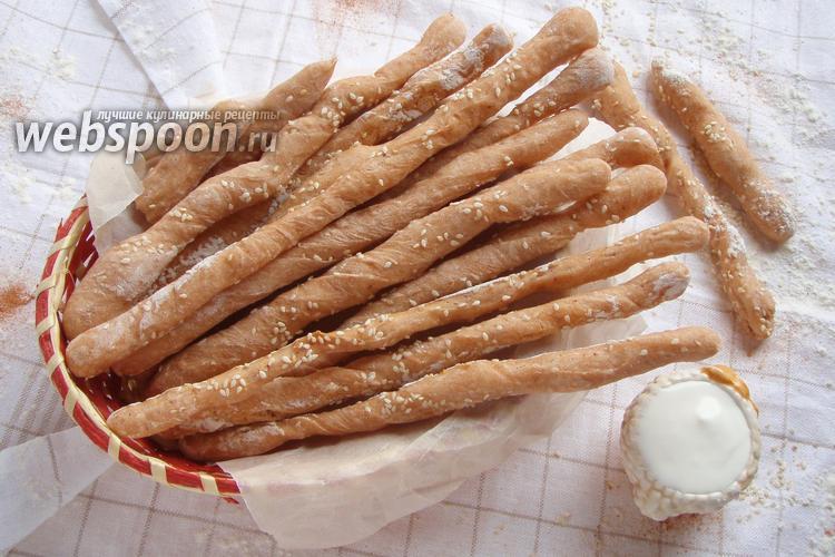 Рецепт Палочки хлебные с паприкой и кунжутом