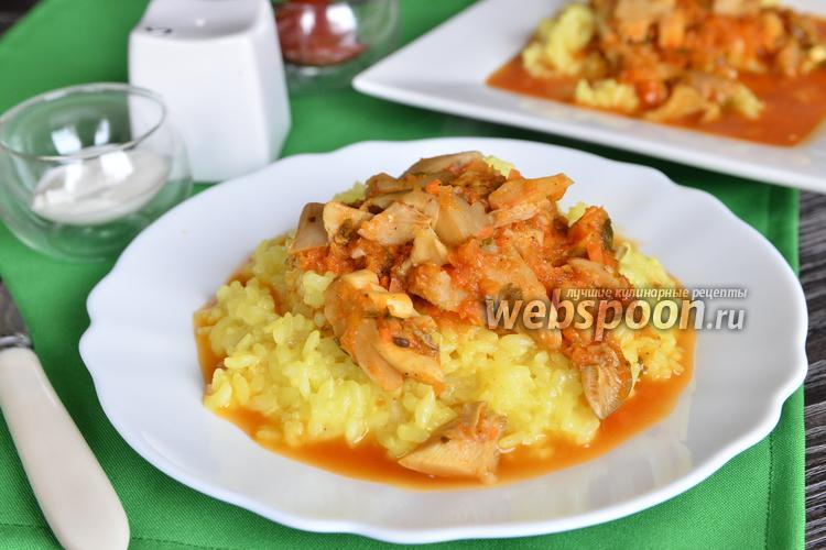 Рецепт Вёшенки в овощной подливке