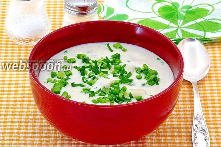 Рецепт Сырно-молочный суп с макаронами