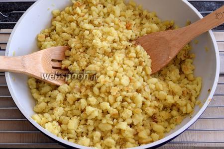 В итоге должно получиться вот такое блюдо Малунс. Обратите внимание, что картрофель должен иметь поджаренные маленькие овальные и круглые частички. Приятного аппетита!