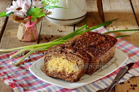 Печёночный пирог с рисом и сыром
