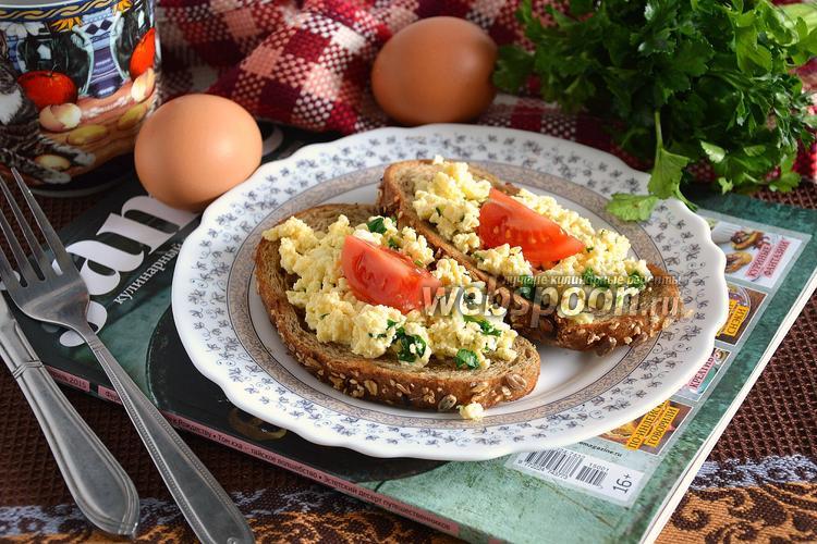 Рецепт Тосты с омлетом и сербской брынзой