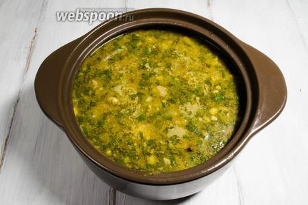Суп харчо готов. Подавать к обеду.