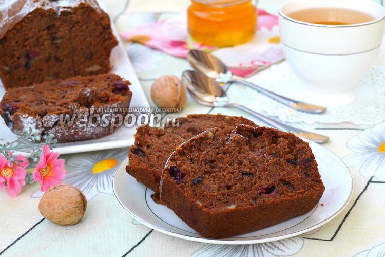 Рецепт Постный кекс с вишней и имбирём