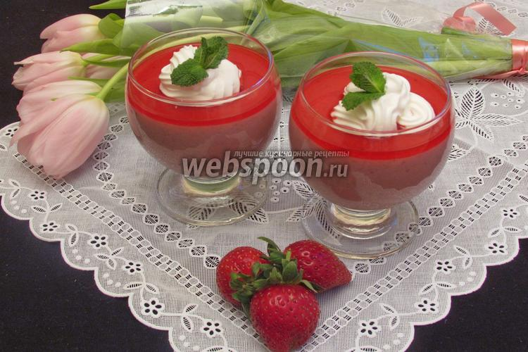 Рецепт Суфле из замороженой клубники со сгущёным молоком