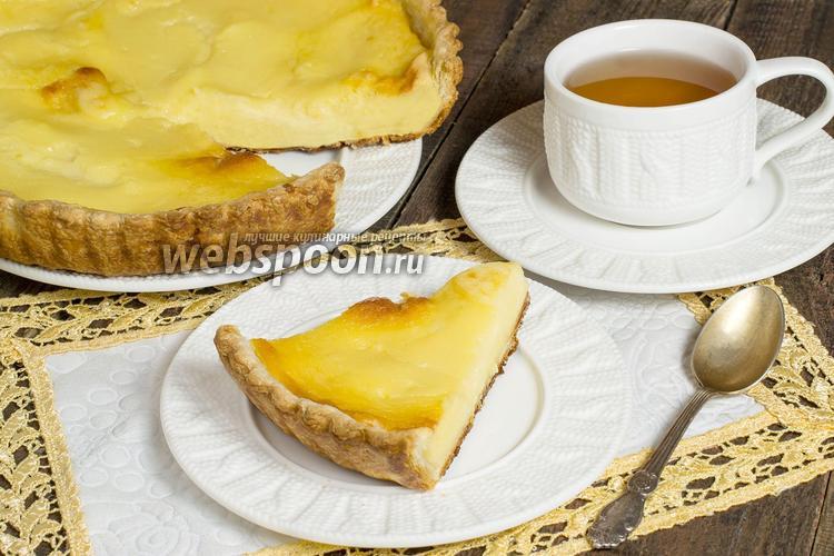 Рецепт Пирог с творогом и заварным кремом