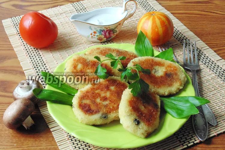 Рецепт Картофельные котлеты с грибами и сыром