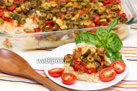 Рис с овощами и сыром