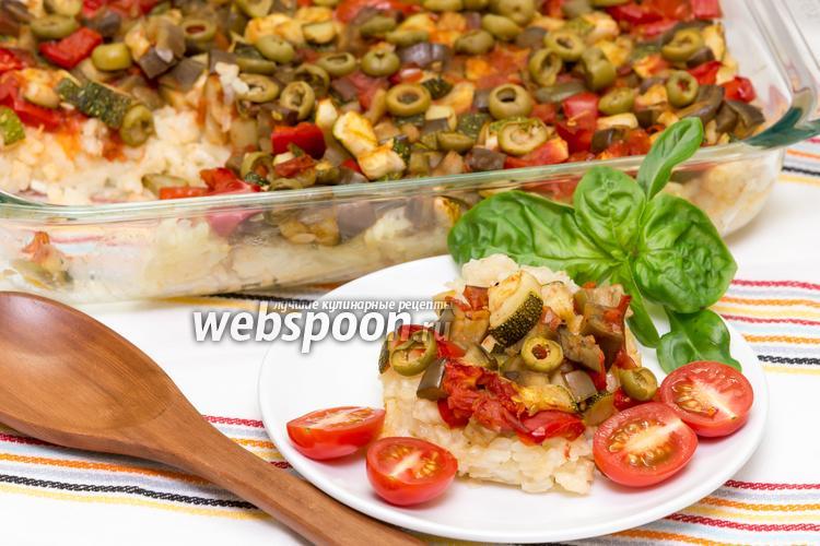 Фото Рис с овощами и сыром