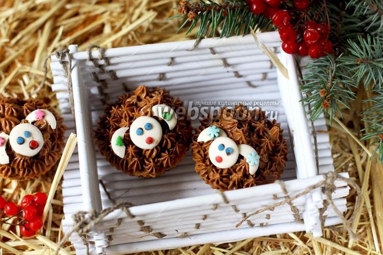 Рецепт Капкейки с шоколадом «Овечки»