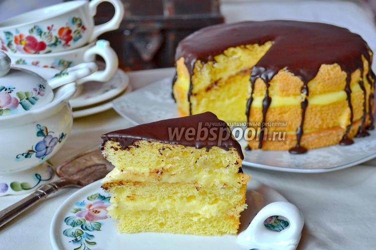 Рецепт Бостонский кремовый торт (Boston Cream Pie)