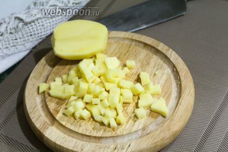 Для картофеля выбираем такую же самую мелкую нарезку.