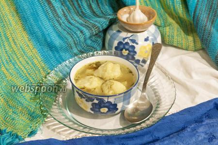 Суп куриный с галушками в мультиварке