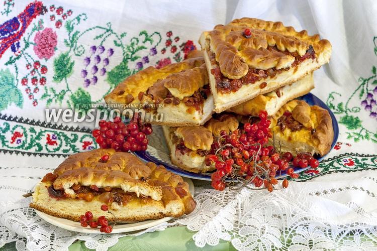 Фото Открытый пирог с калиной