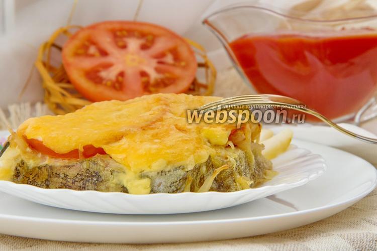 Фото Треска запечённая с сыром и овощами