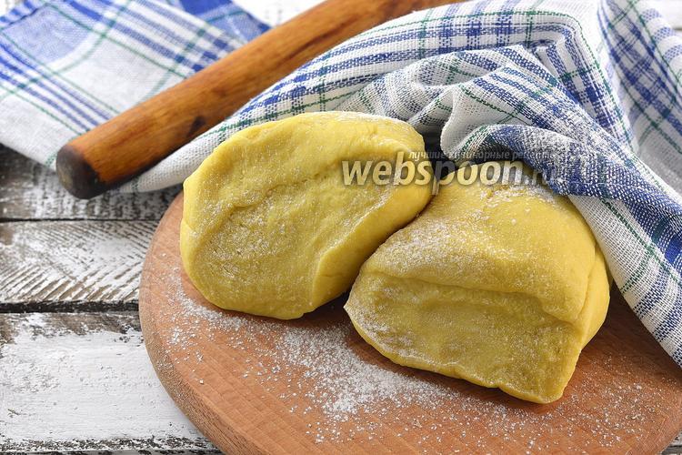 Фото Заварное тесто для вареников на молоке и сливочном масле