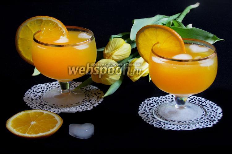 Фото Крюшон из шампанского с апельсинами