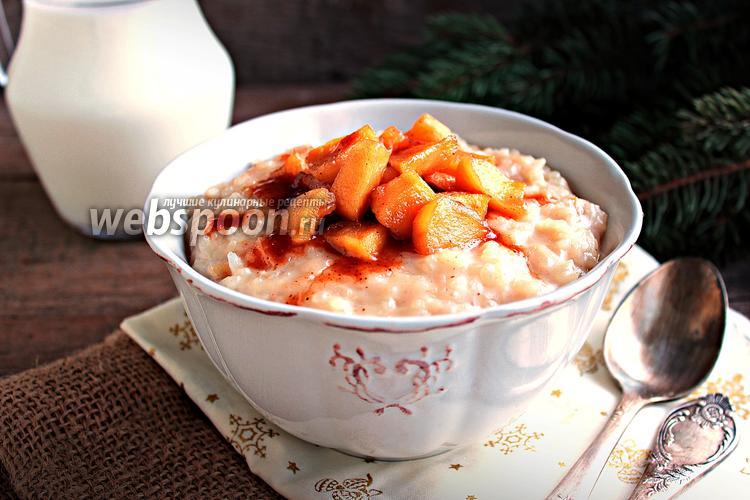 Рецепт Рисовый пудинг с яблоками