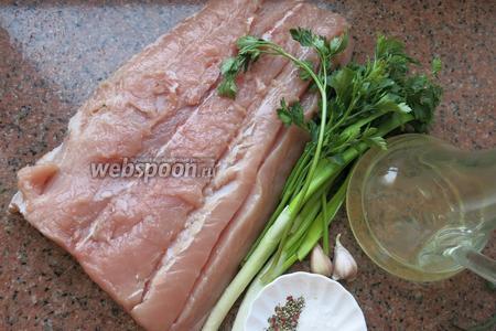 Филе толстолобика, зелень и специи.