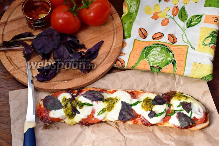 Рецепт Ленивая пицца на батоне