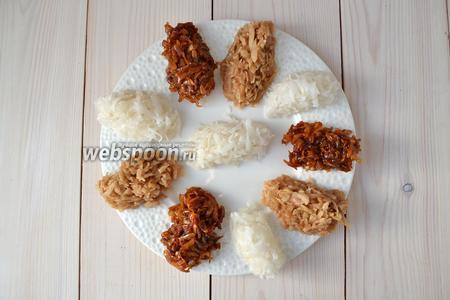 Таким образом, из кокосовой стружки, сахара и воды можно сделать целых 3 вида конфет. Они отлично хранятся, нужно только подыскать для них сухое проветриваемое место.