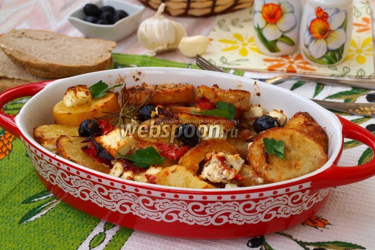 Рецепт Сковорода с картофелем по-гречески