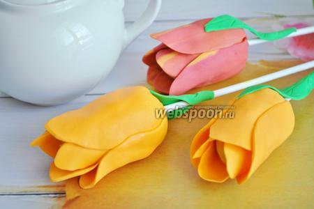Кейк попсы тюльпаны