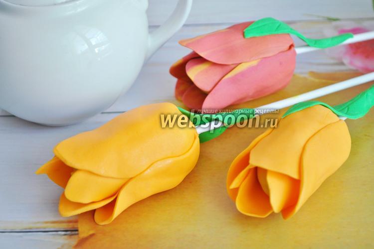 Рецепт Кейк попсы тюльпаны