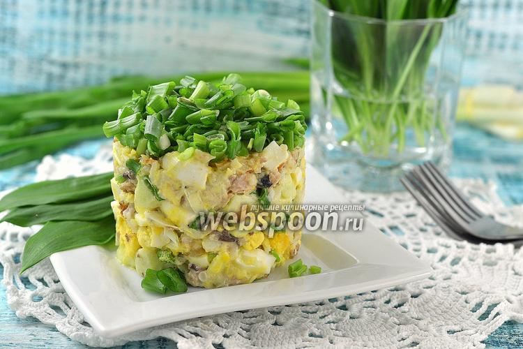 Рецепт Салат из сардины в масле, риса и яблока