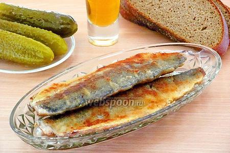 Сельдь, жаренная в панировочных сухарях, по-белорусски
