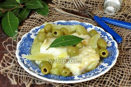 Бакалао с картофелем и оливками