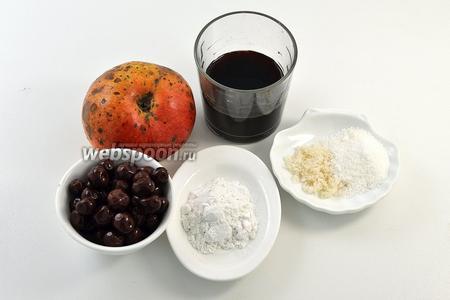 Для начинки нам понадобятся яблоки, консервированная вишня, вишнёвый сок (взять из банки от консервированной вишни), картофельный крахмал, сахар, ванильный сахар.