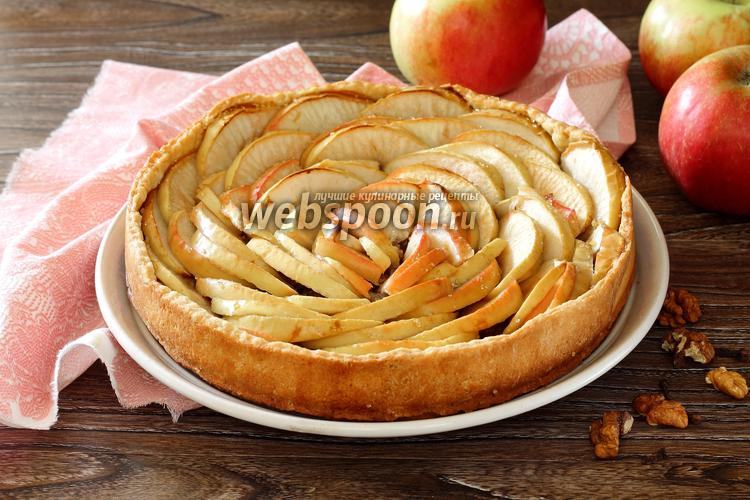 Фото Тарт с яблоками и орехами