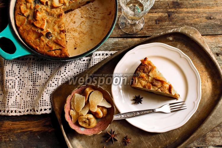 Рецепт Болонский пирог из поленты с сухофруктами