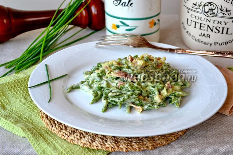 Фото Тирольские клёцки со шпинатом